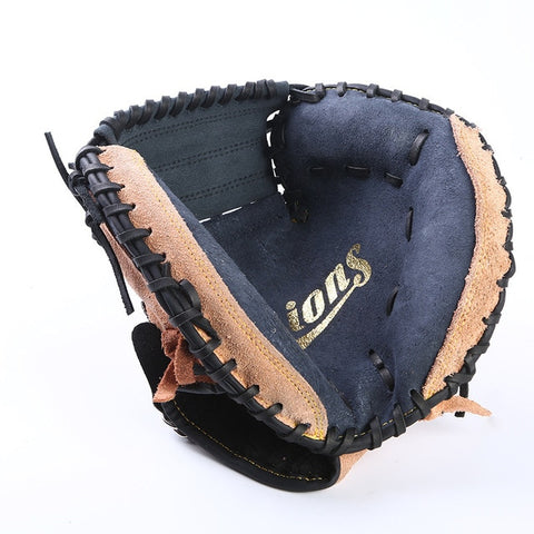 Brown Black Leather Baseball Catcher