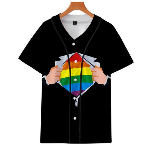 LGBTQ Baseball Jersey - celebrate in style - Rainbow Jersey