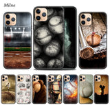 Baseball Cartoon Bryce Cases for Apple iphone 11 Pro XS Max XR X 7 8 6 6S Plus 5 5S SE 5C Black Soft Tampa Phone Cover Coque