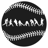 Baseball Fielder Action Wall Art Sticker Removable Vinyl Boy Teenager Room Wall Mural Decorated Sports Playroom Poster Mural H18