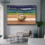 Old Used Baseball Large Wall Posters For Living Room Sports Picttures Modern Home Decor HD Spray On Canvas Oil Paintings