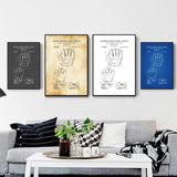Baseball Glove Patent Poster Baseball Glove Blueprint Baseball Fan Gift Canvas Poster No Frame