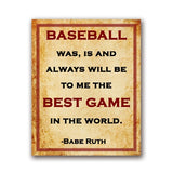 Baseball Quote Nursery Wall Art Canvas Vintage Posters Print Babe Ruth Saying Painting Pictures Kids Room Wall Art Decor
