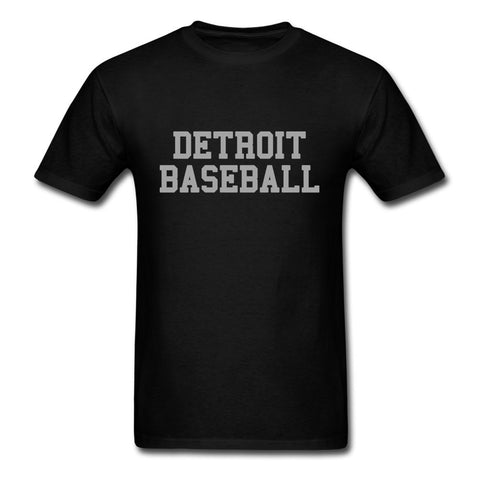 Vintage Detroit Baseball Short Sleeved T-shirt Boy New Design Tee Shirt Cotton O Neck Men's T Shirt For Group