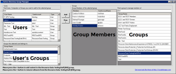 Active Directory Group Manager - Once Off
