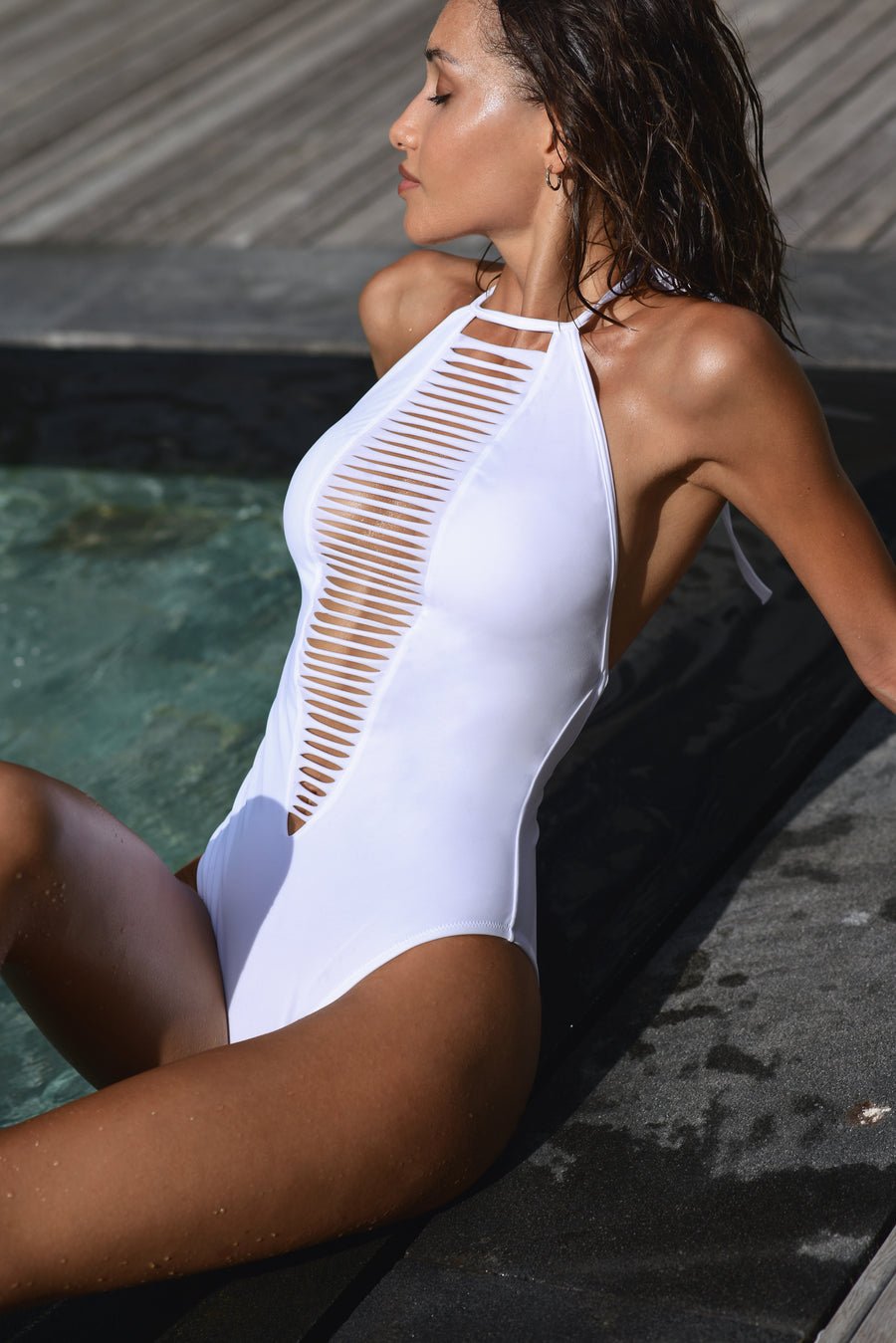 Constellation White One Piece Swimsuit