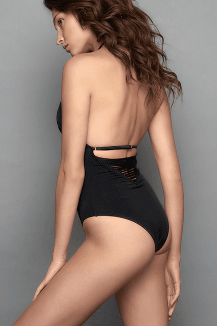 Constellation Black One Piece Swimsuit
