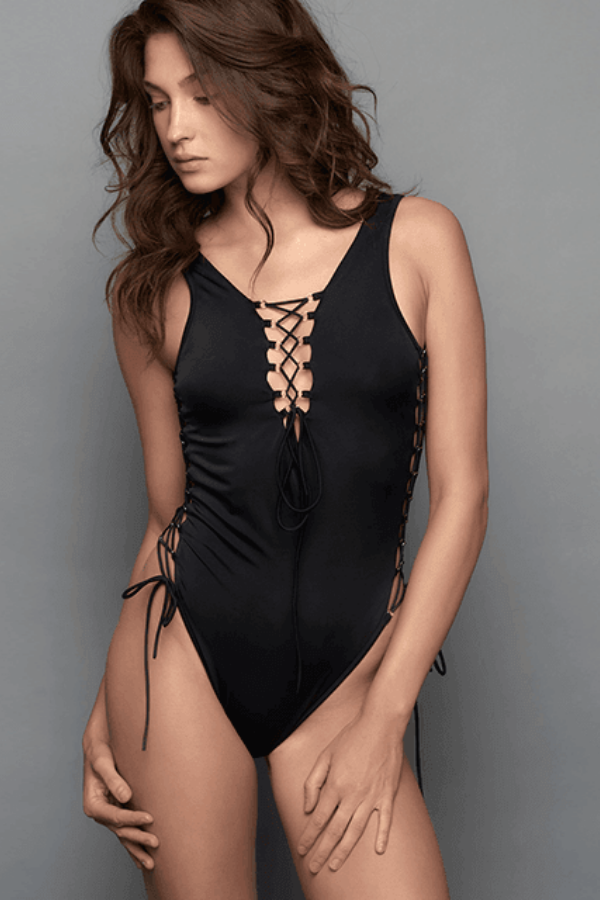 Pepper Black One Piece Swimsuit