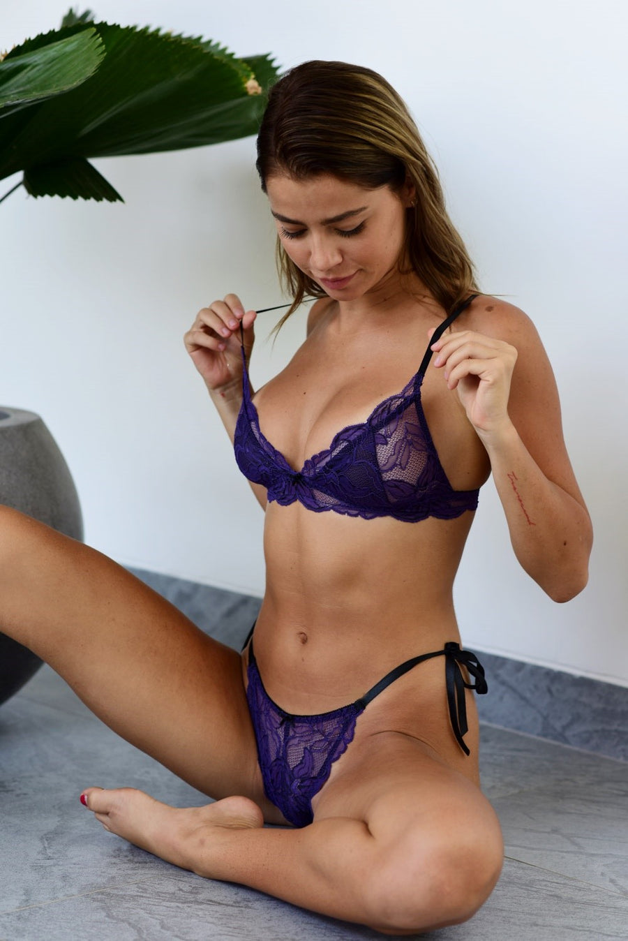 Violet Temptation Thongs