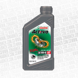 ACEITE CASTROL ACTEVO MINERAL 4T 10W-40 946ML