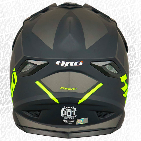 CASCO HRO MX-03 EXHAUST NEGRO AMARILLO