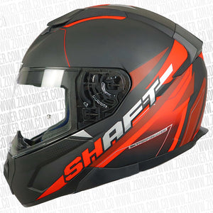 CASCO SHAFT 571 GUTS NEGRO ROJO