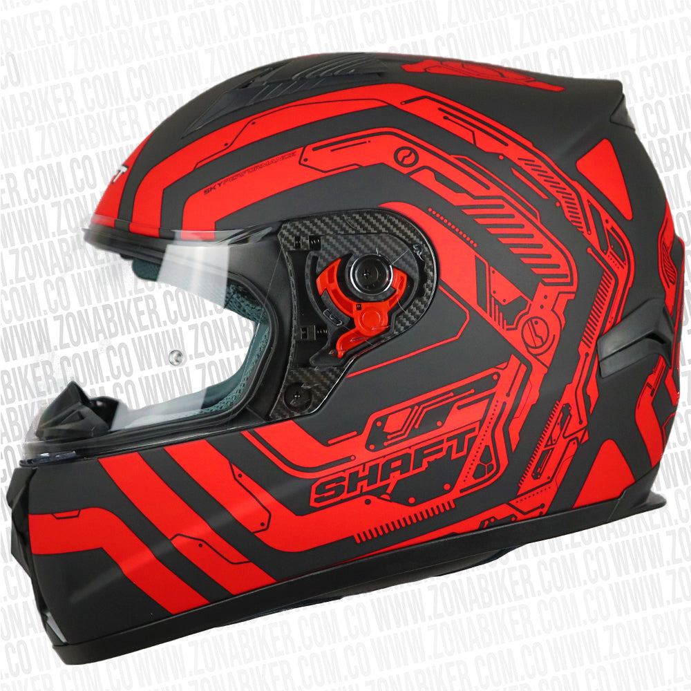 CASCO SHAFT 581 EVO NEKKEN NEGRO ROJO