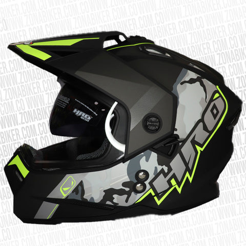 CASCO HRO MX-330DV CLUB N/M AMARILLO