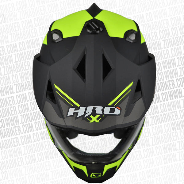 CASCO HRO MX-330DV GORCE NEGRO AMARILLO