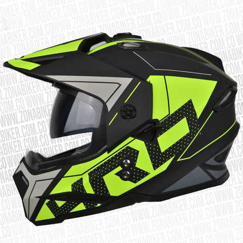 CASCO HRO MX-330DV STATIC NEGRO AMARILLO