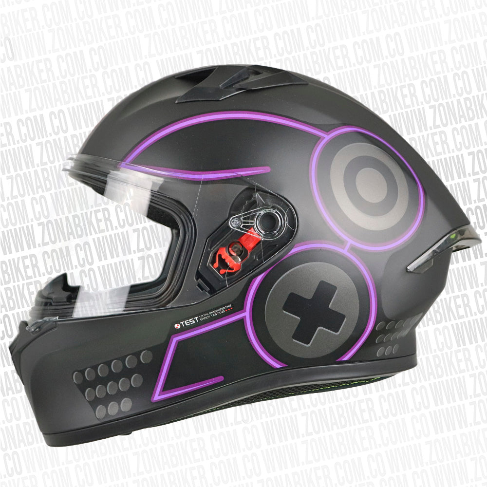 CASCO ICH 503 SP GAMER NEGRO MORADO