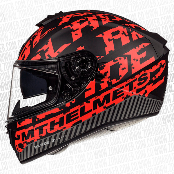 CASCO MT BLADE 2 SV CHECK ROJO