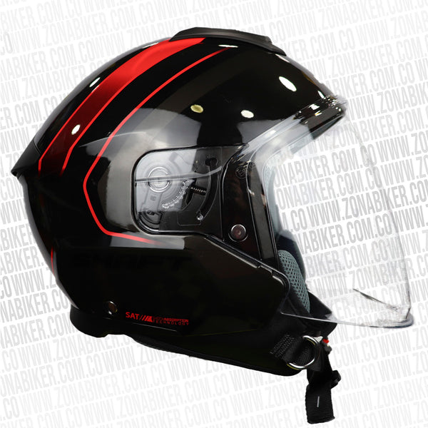 CASCO SHAFT 230 KWAY NEGRO ROJO