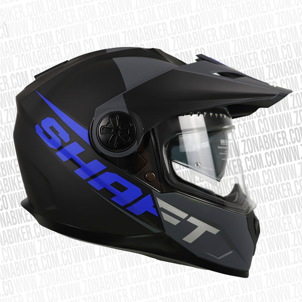 CASCO SHAFT 570DV PEAK PINLOCK CARBON NEGRO AZUL