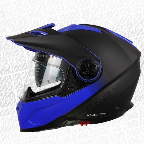 CASCO SHAFT 570DV PEAK PINLOCK KNOCK NEGRO AZUL