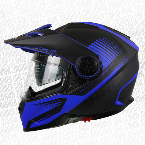 CASCO SHAFT 570DV PEAK PINLOCK BARCODE GRIS  AZUL
