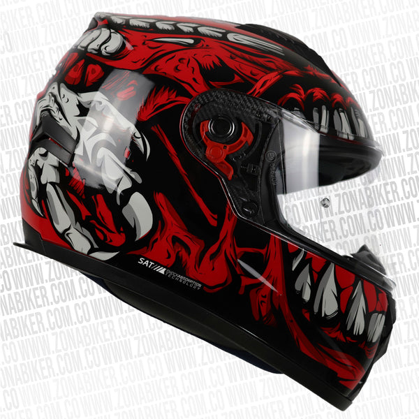 CASCO SHAFT 581 INFECTUS ROJO