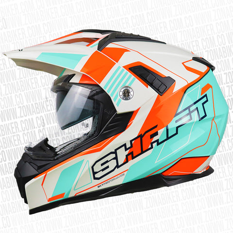 CASCO SHAFT MX-380 SPEEDWAG BLANCO AZUL