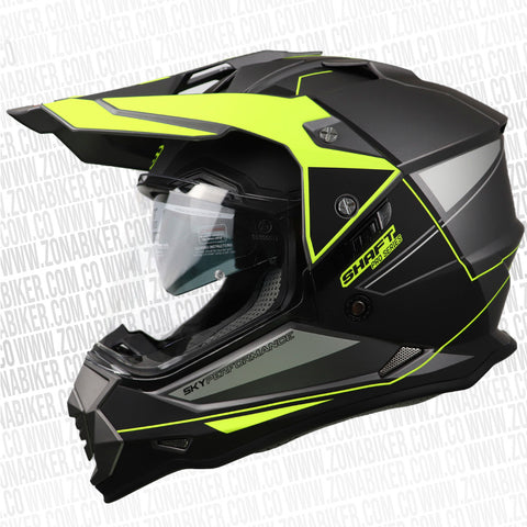 CASCO SHAFT PRO MX-370 DUNGE GRIS  AMARILLO