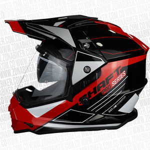CASCO SHAFT PRO MX-370 TREPID NEGRO ROJO