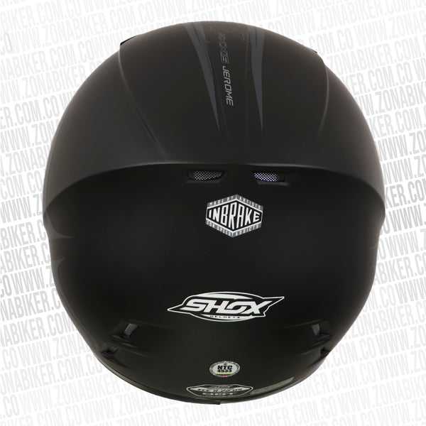 CASCO SHOX AXXIS NEW JEROME GRIS NEGRO