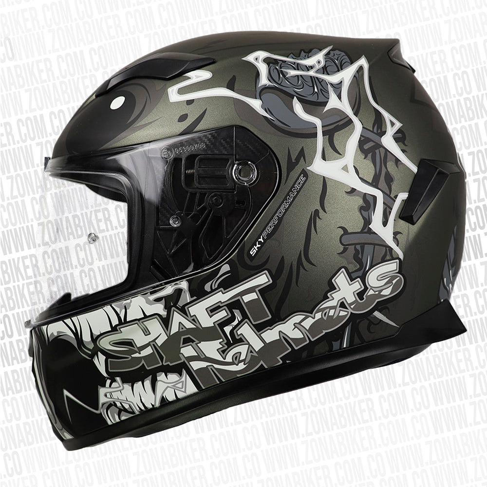 CASCO SHAFT 591 PIKAZOMBIE GRIS M