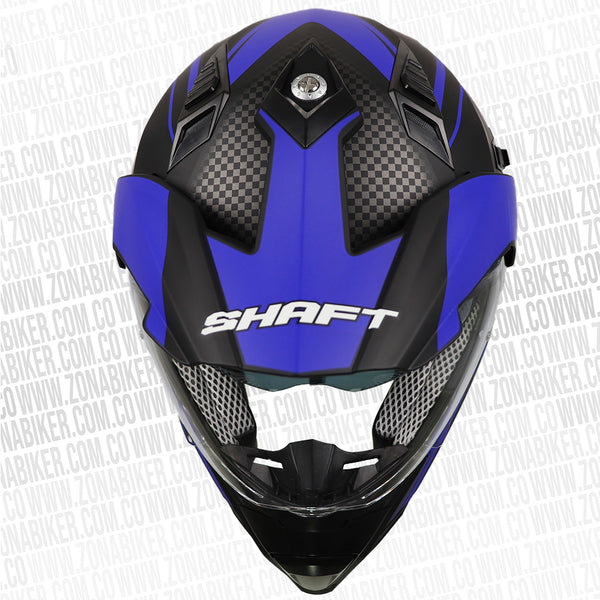 CASCO SHAFT MX-380 BLACKFIBER NM AZUL