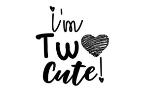 I'm Two cute strijkapplicatie