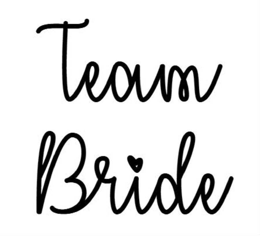 Team bride strijkapplicatie