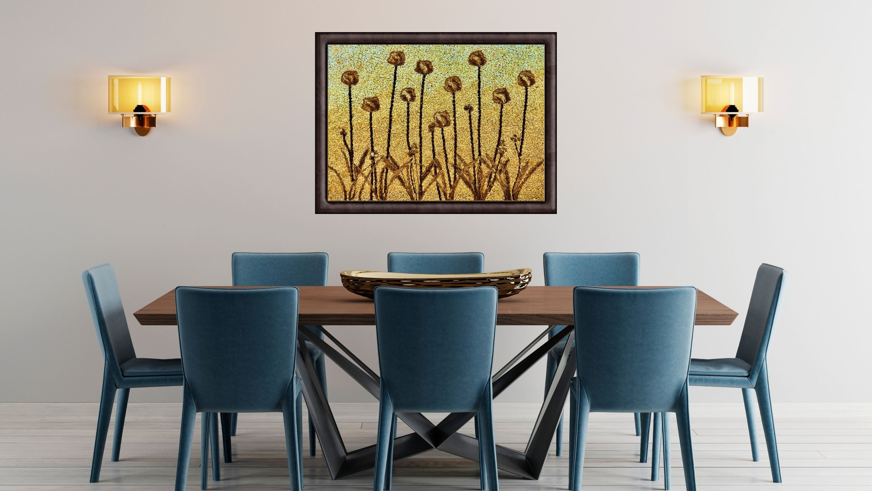 flower paintings for sale from maverick deco rice art gallery UK