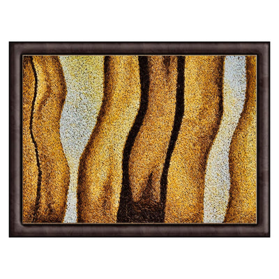 abstract yellow rice painting and art deco for sale in Paris