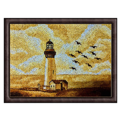 landscape painting for sale lighthouse rice art from maverick deco Irish art gallery