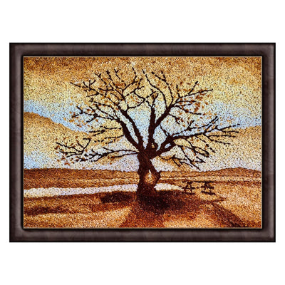 nature painting sunset rice art from Maverick deco UK art gallery and painting for sale