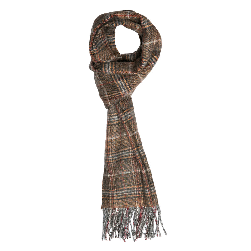 Orange Double Faced Check Scarf