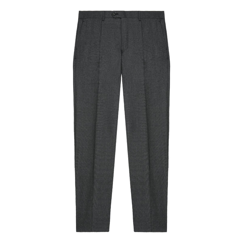 Charcoal Wool Suit Trousers