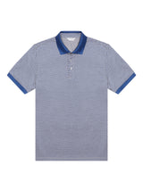 Blue Print Polo Shirt