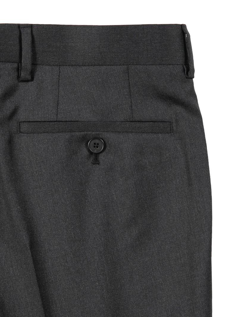 Charcoal Fleece Wool Trousers