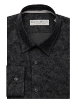 Navy And Black Faded Check Cotton Flannel Casual Shirt