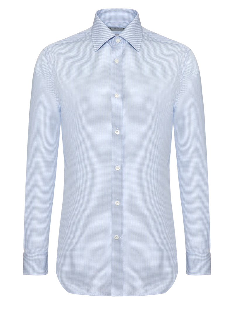 Sky Blue Cotton Tailored Fit Shirt