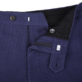 Navy Cotton Seersucker Soft - Tailored Jacket