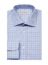 NAVY BOLD CHECKED TAILORED FIT SHIRT