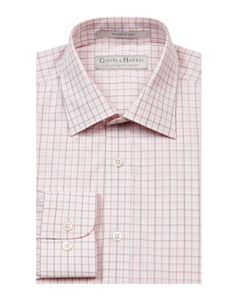 PINK BOLD CHECKED TAILORED FIT SHIRT