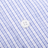 Blue And White Graphic Gingham Checked Casual Shirt
