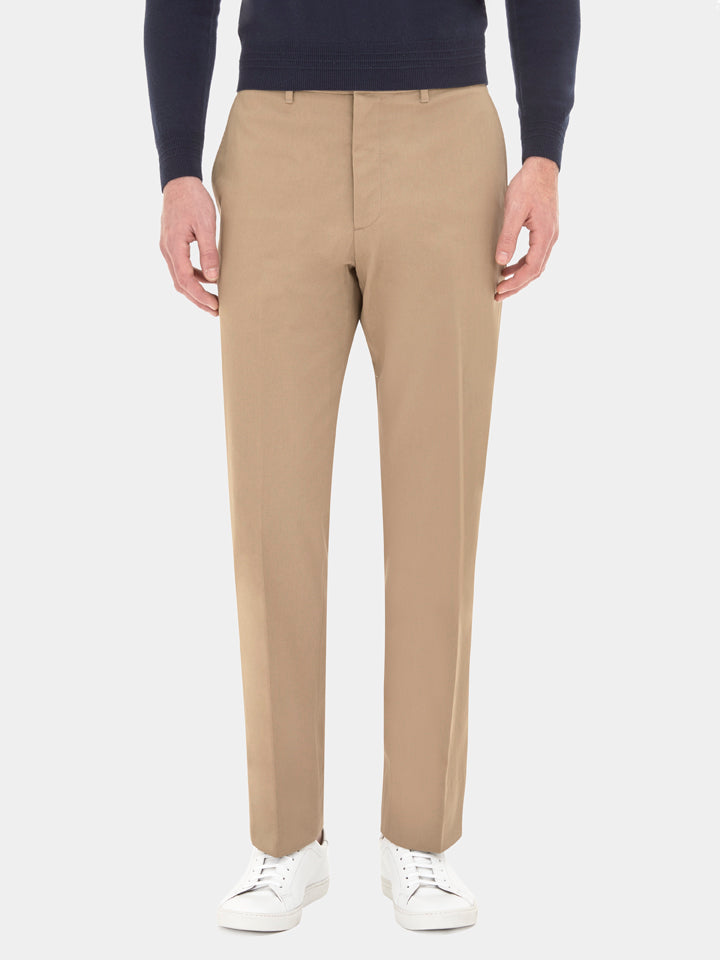 Classic fit cotton chinos